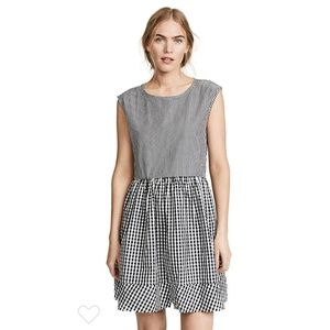 Madewell Tie Back Cotton Gingham Dress